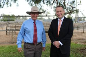 Member for Parkes, Mark Coulton, with Dubbo regional mayor Ben Shields, who have seen the region benefit from $18.8 million in BBRF grants. Image: Supplied.